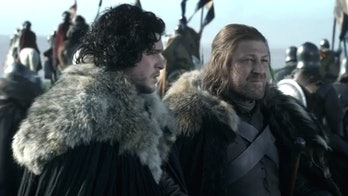 Jon Snow and Ned Stark in 'Game of Thrones'