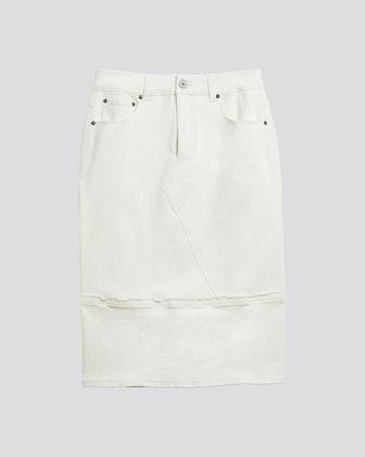 Jasmine Patchwork Denim Skirt