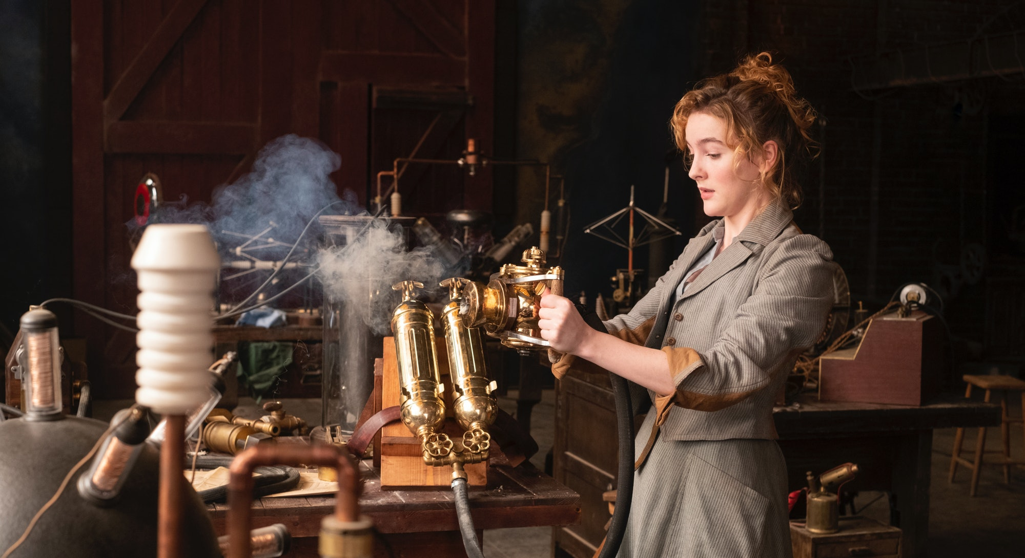 woman in science lab from the nevers on hbo max