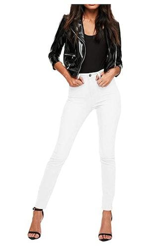 Hybrid & Company Womens Super Stretch High Waist Skinny Jeans