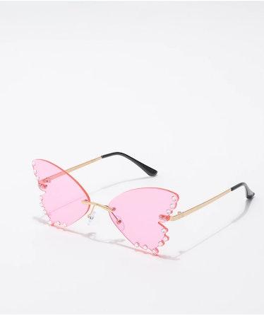 Butterfly Jewel Pink Sunglasses