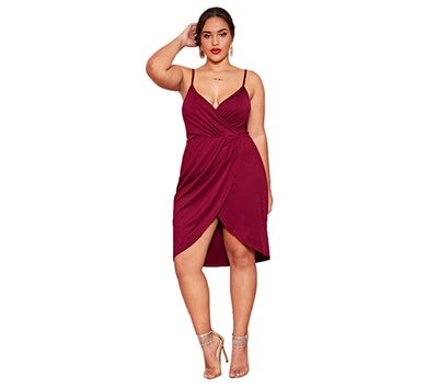 Romwe Plus Size Mini Dress