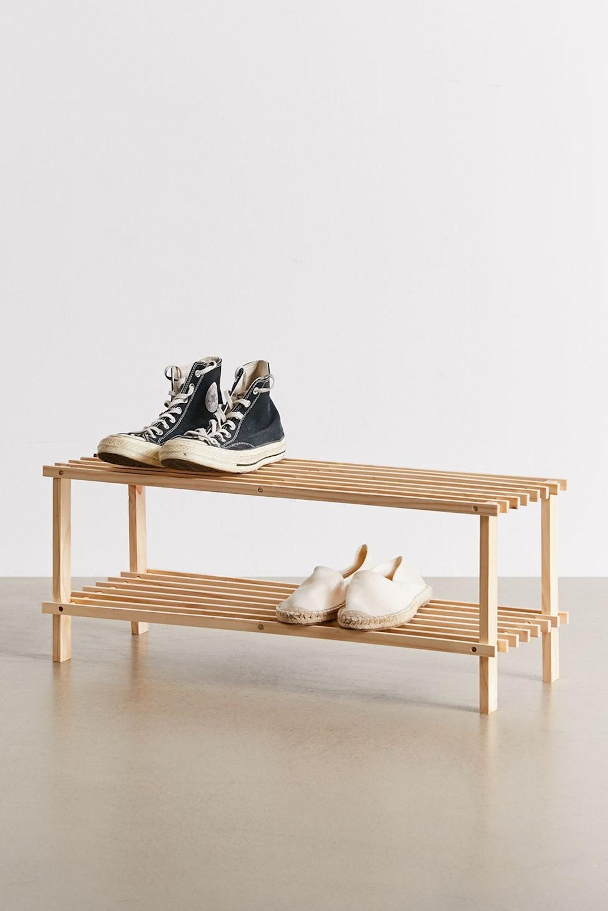 Helga Wood Shoe Rack