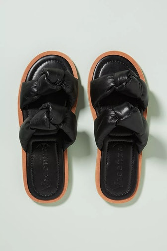 Puffy Double Knot Slide Sandals