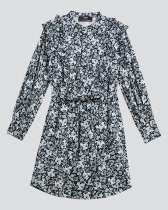 Primrose Ruffle Shirt Dress