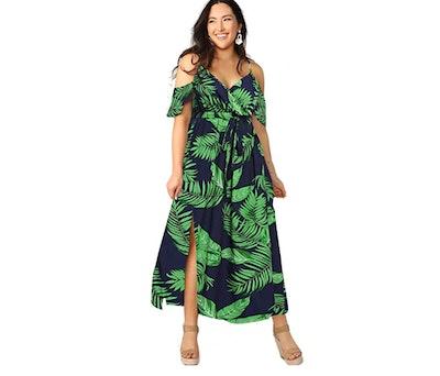 Milumia Cold Shoulder Plus Size Dress