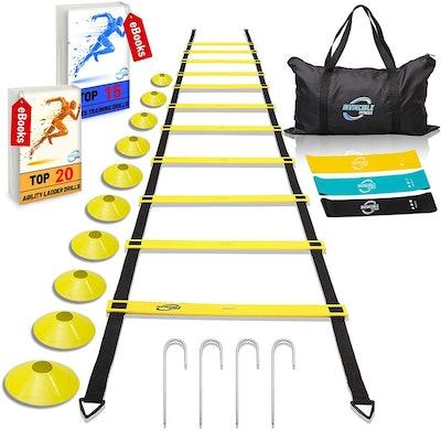 Invincible Fitness Agility Ladder Training Equipment Set