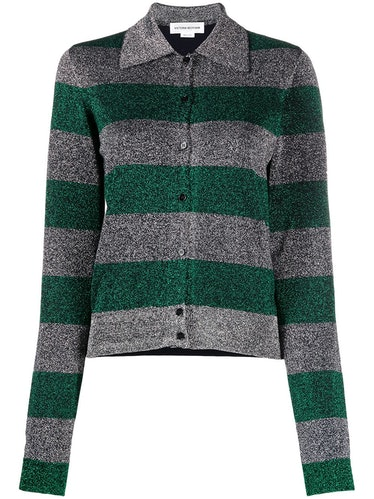 Lurex Striped Cardigan