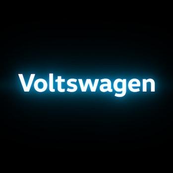 Volkswagen's proposed Voltswagen branding.
