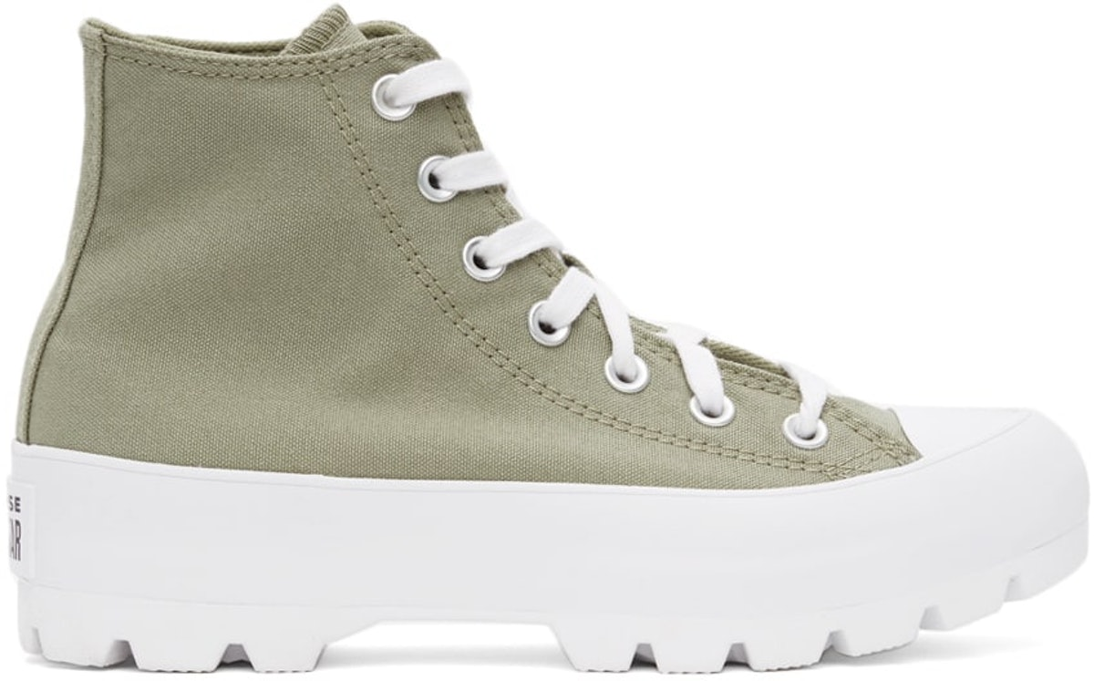 Khaki Lugged Utility Chuck Taylor All Star Hi Sneakers