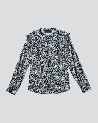 Kalina Long Sleeve Ruffle Shirt