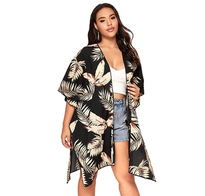 Romwe Plus Size Kimono