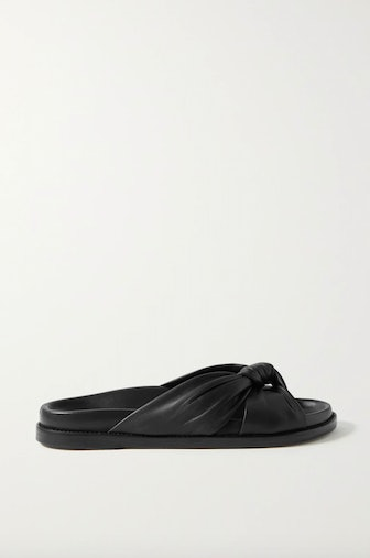 Knotted Leather Slides