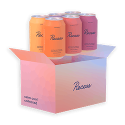 6-Pack Sparkling Water Infused With Hemp Extract & Adaptogens