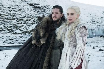 Jon Snow and Daenerys Targaryen in 'Game of Thrones'