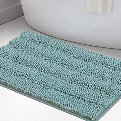 Turquoize Non-Slip Shaggy Bathroom Rugs