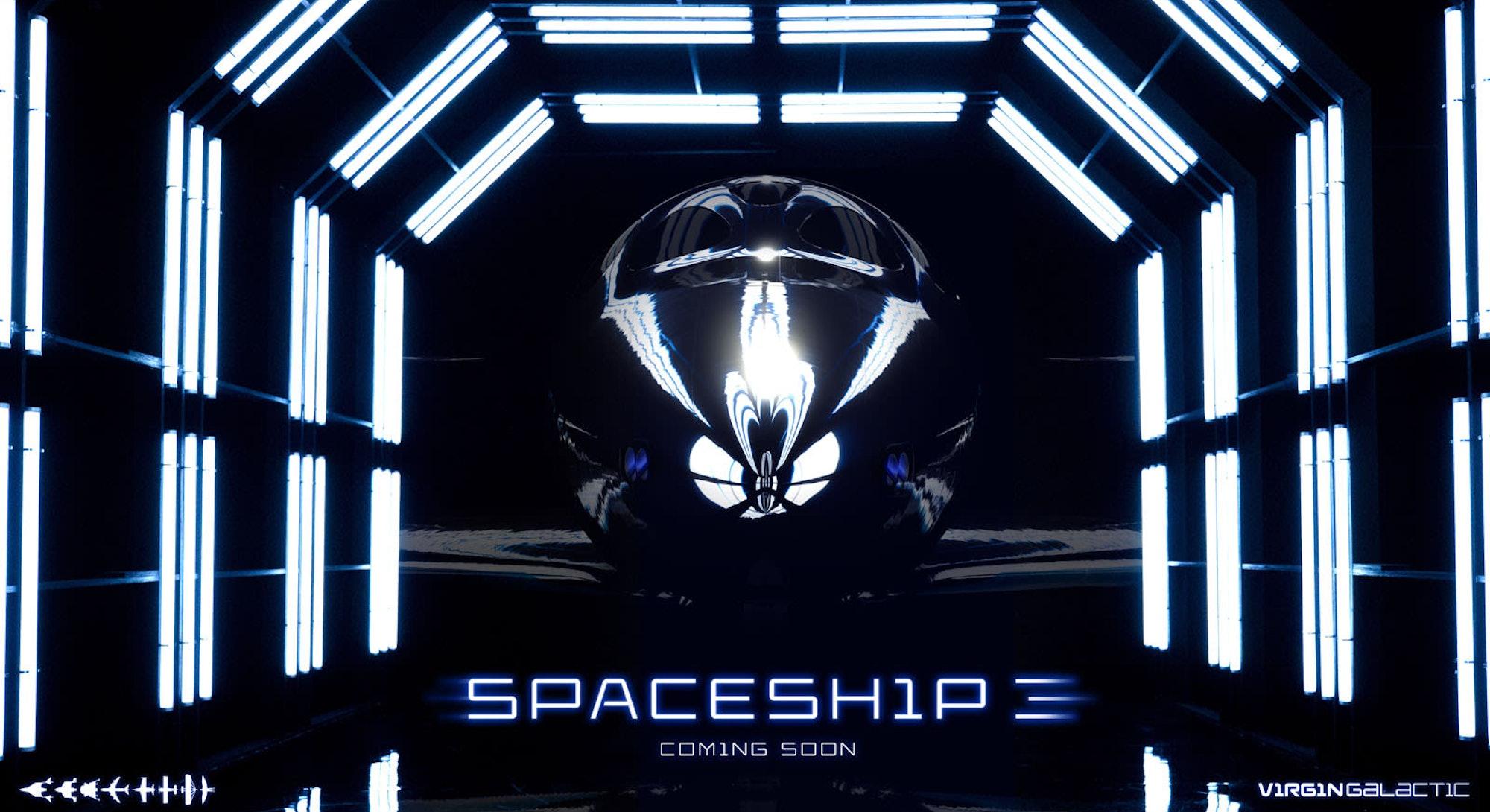 Virgin Galactic Spaceship 3 poster
