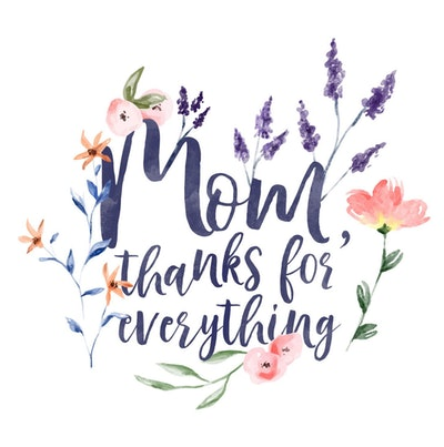 Mom, Thanks For Everything Card
