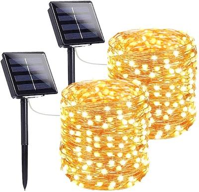 SANJICHA Extra-Long Solar String Lights (2-Pack)