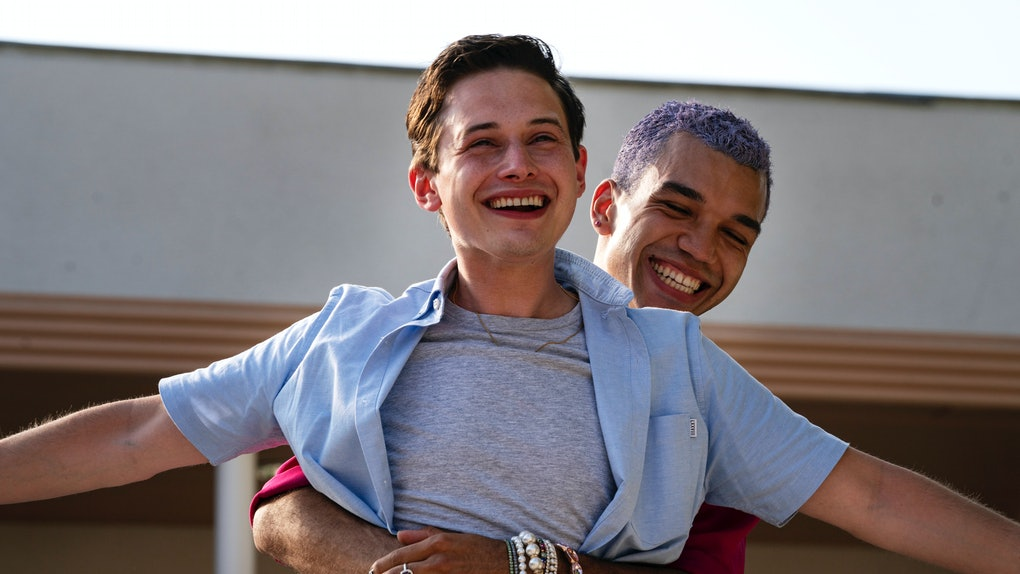 Uly Schlesinger as Nathan and Justice Smith as Chester in Generation.