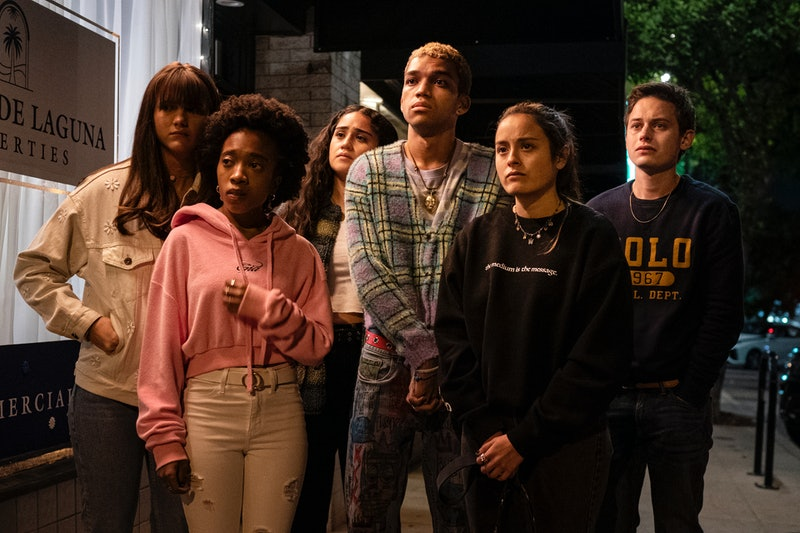 Haley Sanchez, Justice Smith, Chase Sui Wonders, Chloe East in 'Genera+ion' via HBO press site.