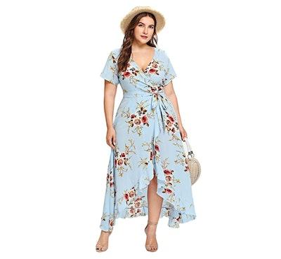 Milumia Plus Size Wrap Dress