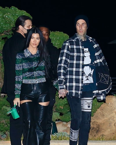 Kourtney Kardashian and Travis Barker seen leaving Nobu restaurant in Malibu after a Romantic Dinner!