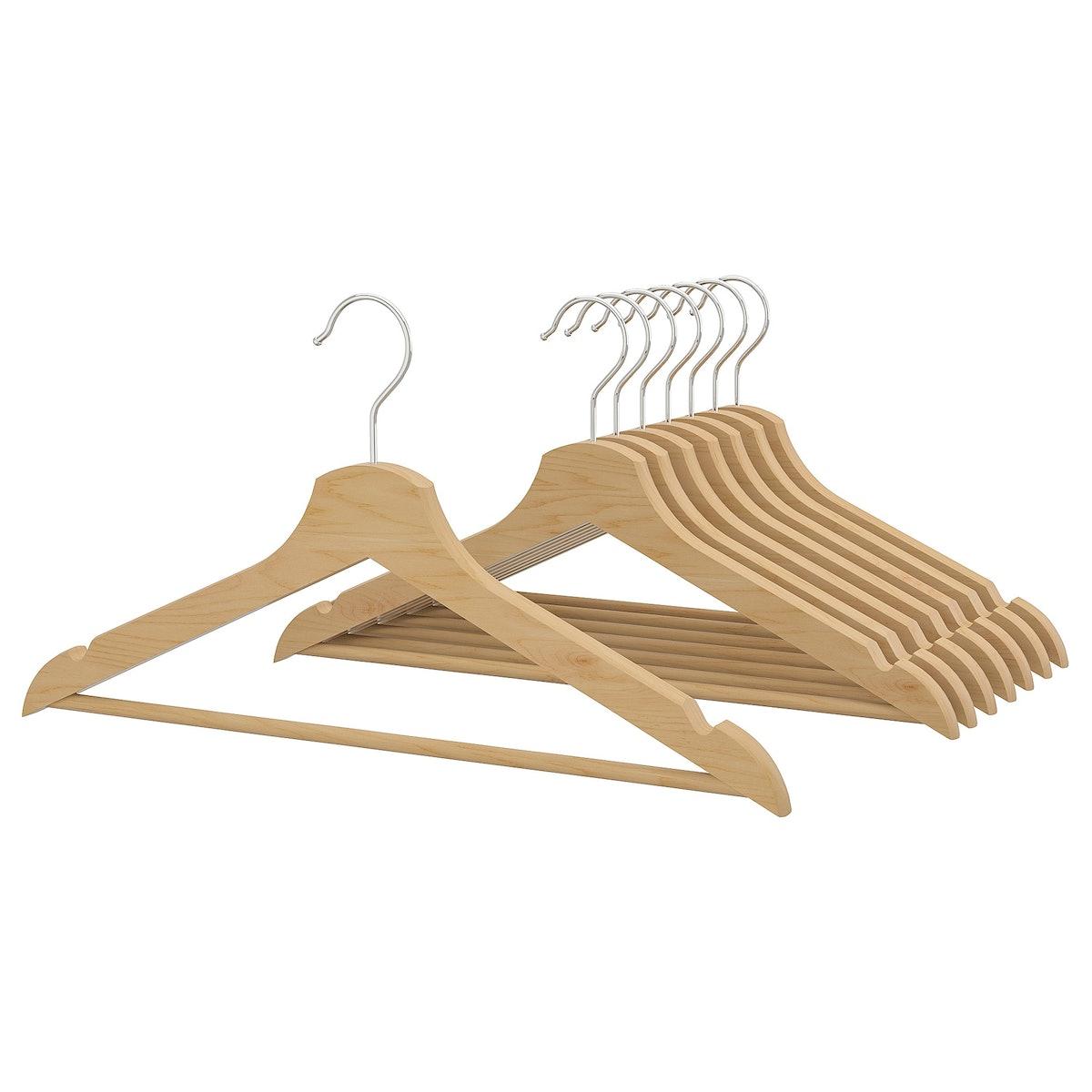 BUMERANG Hanger, Natural, 8-pack