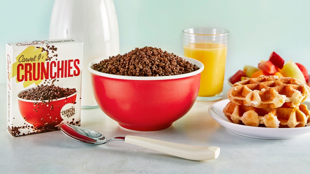 Here's how to get Carvel's Crunchies Cereal for a chocolatey treat.