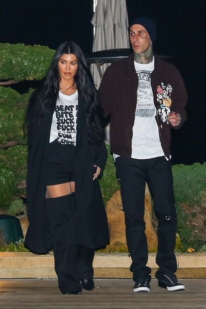 Kourtney Kardashian and Travis Barker seen leaving Nobu restaurant in Malibu after a Romantic Dinner.
