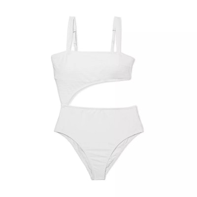 Women's Ribbed Cut Out One Piece Swimsuit
