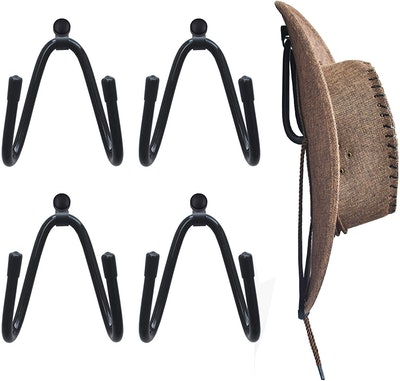 YYST Cowboy Hat Rack Holder (4-Pack)