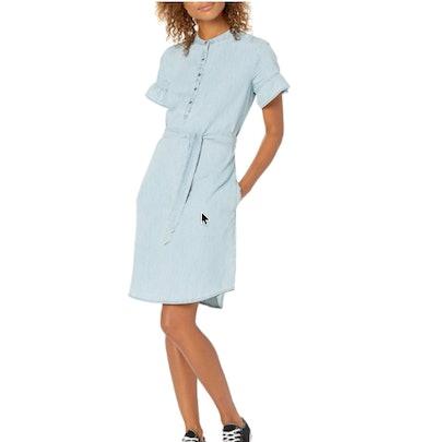 Goodthreads Denim Flutter-Sleeve Dress