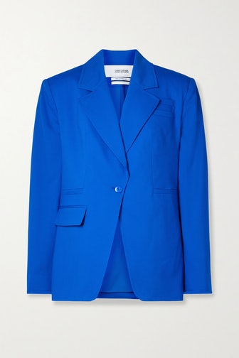 Royal Blue Wool-Blend Blazer