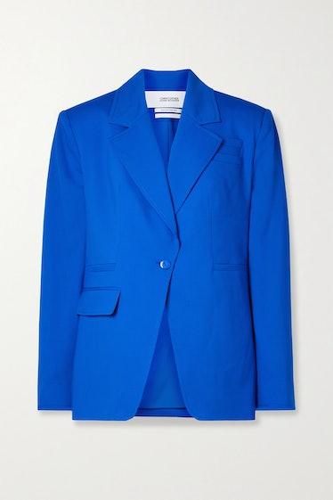 Royal Blue Wool-Blend Blazer