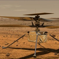 Watch the Mars helicopter unpack its tiny legs