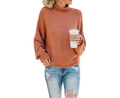 Saodimallsu Knit Turtleneck Sweater