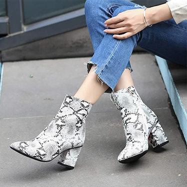wetkiss Snake Print Boots