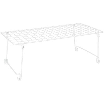 Multi-Purpose Closet Stack and Hang Wire Storage Shelf
