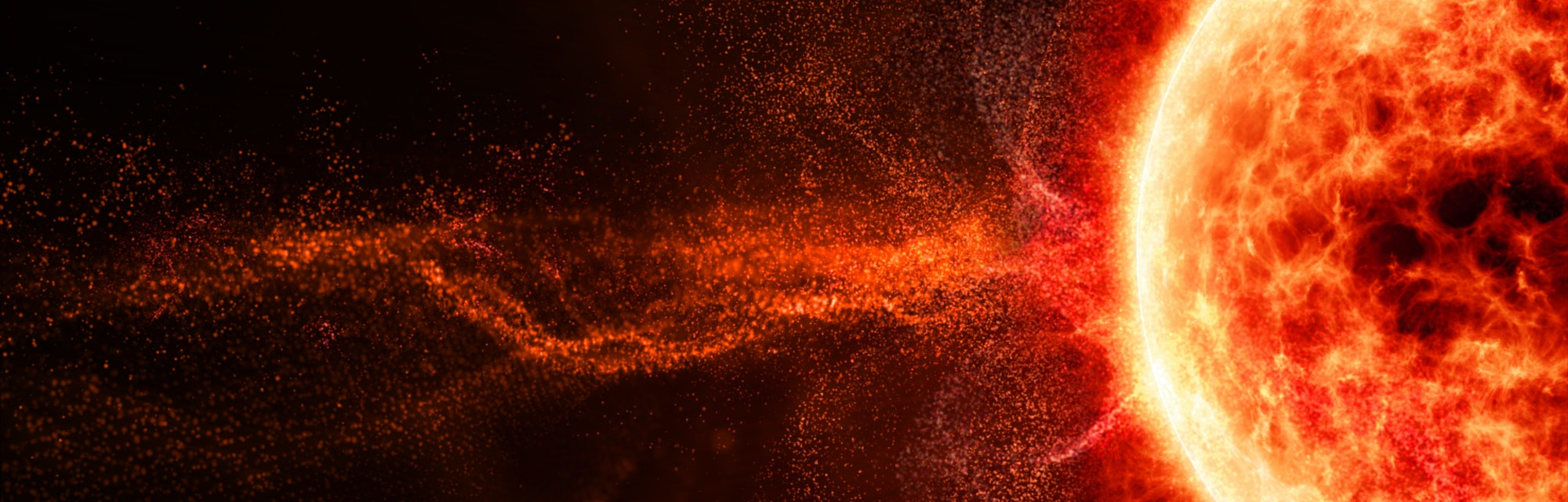 A solar flare.