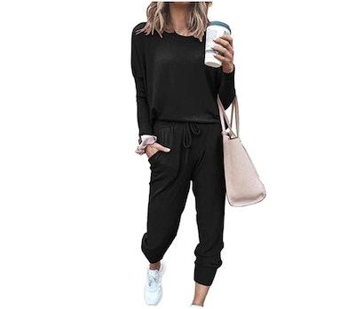 PRETTYGARDEN Loungewear Outfit (2-Pieces)