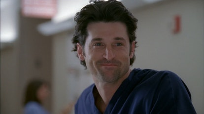 Derek and Meredith first begin their romance in the pilot of 'Grey's Anatomy.' Screenshot via ABC