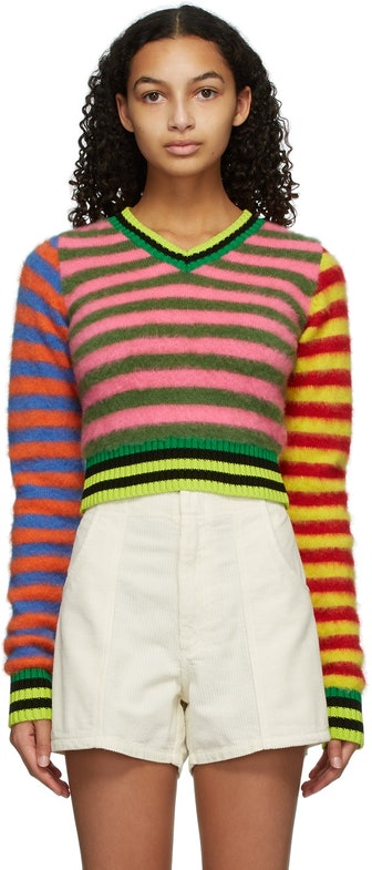 Multicolor Mohair Emo Sweater