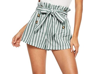 SweatyRocks Tie Waist Shorts