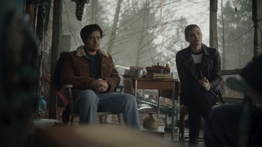 Cole Sprouse as Jughead Jones and Lili Reinhart as Betty Cooper in The CW's 'Riverdale'