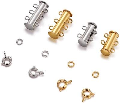PH PandaHall Jewelry Slide Locks (40 Pieces)
