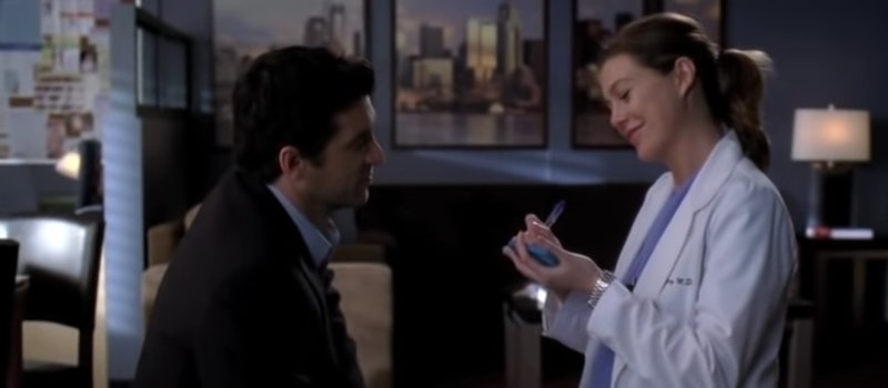 Meredith and Derek have shared many memorable moments on 'Grey's Anatomy,' including their Post-it wedding. Screenshot via ABC