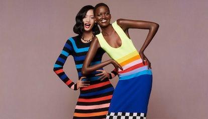 Models wearing Christopher John Rogers dresses for Net-a-Porter's Spring/Summer 2021 'Ready To Wear?...