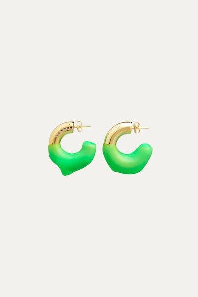 Rubberized Small Gold Earrings