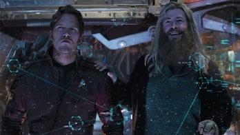 Chris Hemsworth and Chris Pratt in Avengers: Endgame